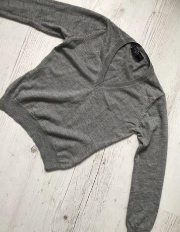 Szary sweter welna 100%