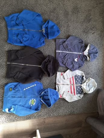 5 szt bluzy na zamku z kapturem 98-104 Primark Reserved Cubus