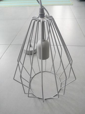 Lampa Brylant Leroy wisząca sufitowa szara skandynawska geometryczna