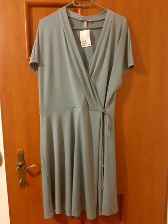 Sukienka miętowa xl