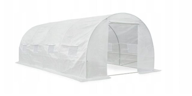 Tunel ogrodowy 3x6 biały ze stelażem - szklarnia zestaw premium