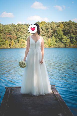 Suknia ślubna roz. 34 XS, 158 cm + obcas 8 cm