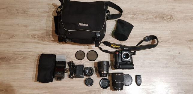Nikon d80 lustrzanka zestaw z lampą