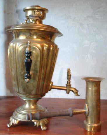 Малий безпіддувальний самовар рюмка з трубою. Баташев, тула, царизм.