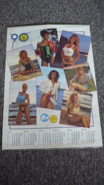 Oryginalny kolekcjonerski kalendarz Miss Polonia 89 z 1990 r.