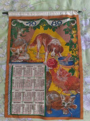 Плакат-Календарь, ткань, 1989, Германия