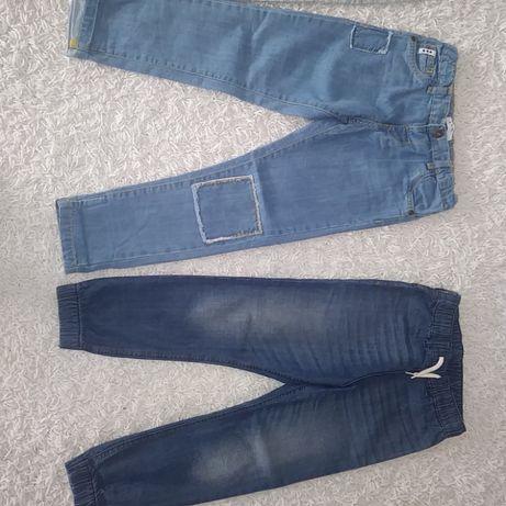4x jeansy,dresy,spodnie r.128 cm 5.10.15, H&M, Disney,Cool Club