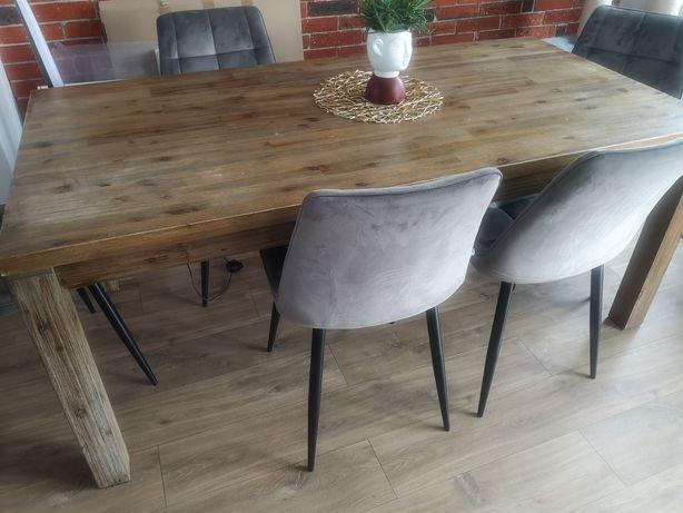 Stół drewniany 180x90 z dostawkami. Śląsk.