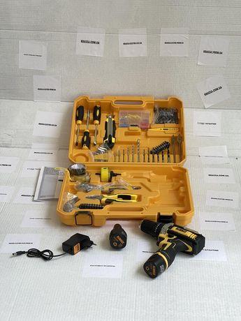 Ударный шуруповерт DeWALT DCD680 12V 2AЧ с набором инструментов
