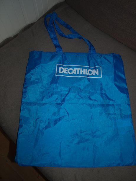 Torba nowa Decathlon niebieska na zakupy