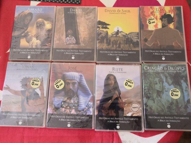 COLECÇÃO de FILMES em Banda Desenhada da Bíblia, DVD NOVOS e Selado