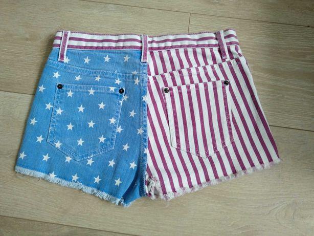 Spodenki jeansowe szorty amerykańska flaga