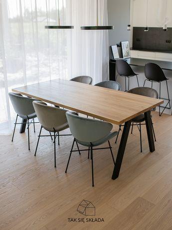#RO - stół drewniany | 200x100 dębowy loft industrial | OLEJ GRATS