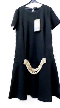 Nowa, czarn tunika sukienka M/L