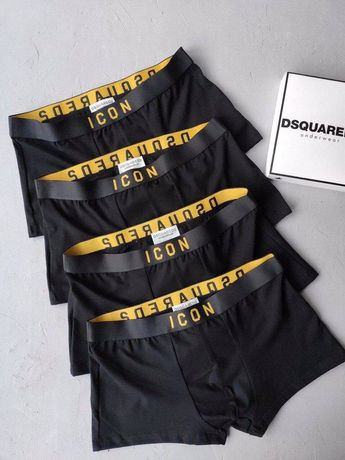 Мужские наборы трусов Icon, Armani, Calvin klein, Versace BLACK