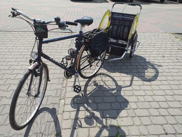 rower z przyczepką dla dzieci, riksza