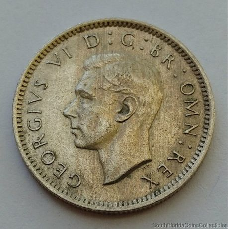 1948 6 Six Pence Copper Nickel Uncirculated Coin