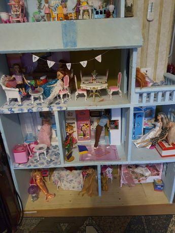 Дом кукол, мебель Кен и беременная Барби