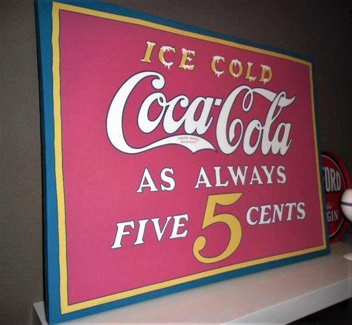 Quadro/Tela Publicitária Coca Cola