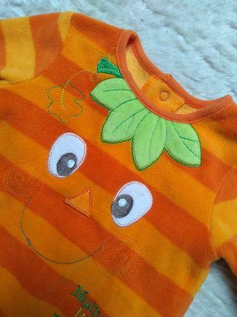 Pomarańczowy pajacyk r.50/56 dynia/halloween George