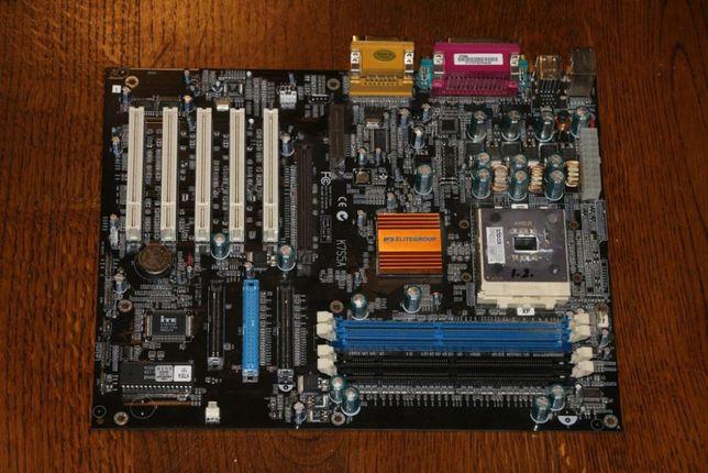 Płyta główna ECS K7S5A + procesor AMD Athlon 1200