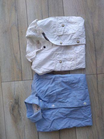 Koszule z krótkim rękawem 128 i 134