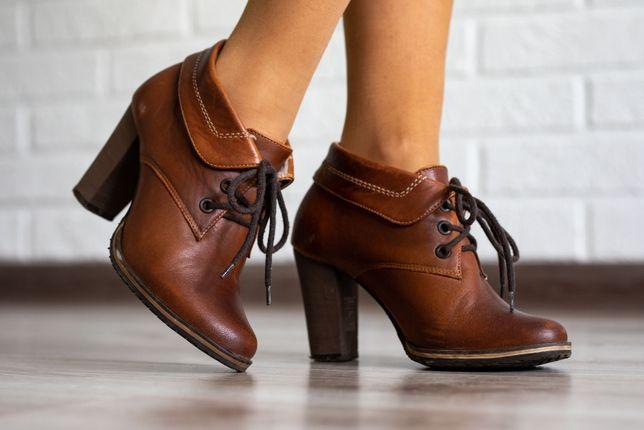 Ботинки кожа, рыжие 36 р. / черевики шкіра, руді