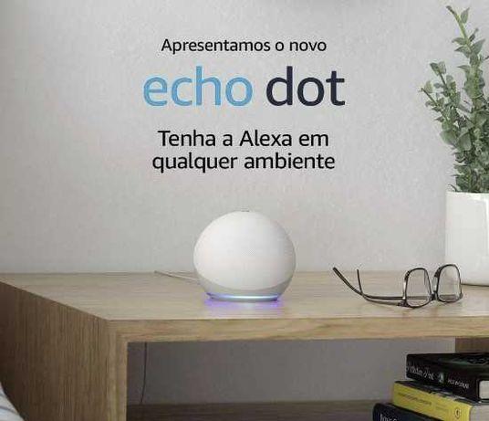 Alexa Echo Dot 4ªGenerção Wi-Fi c/ Assistente Voz (Branco) - AMAZON