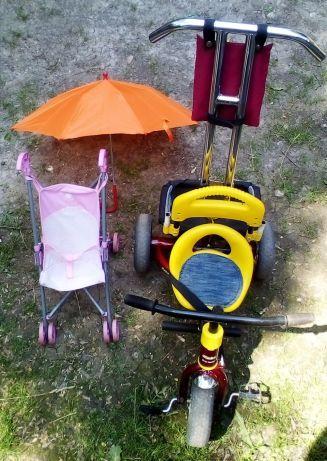 Дитячий трьох колісний велосипед з батьківською ручкою+