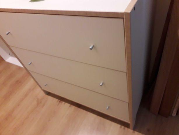 Meble Ikea Robin białe komoda biurko szafka