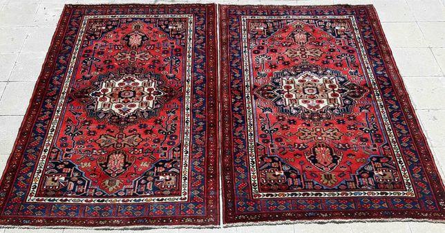 Antiguidade! Tapetes Persa Zanjan feitos à mão em lã. Mais de 80 anos!