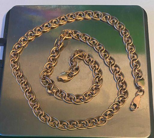 Золотая цепочка плетения бисмарк 585 пробы 10.7 г. Ручная Работа