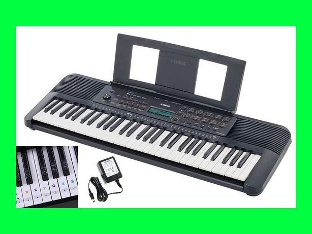 Keyboard YAMAHA PSR-E273 do nauki + NAKLEJKI Edukacyjne