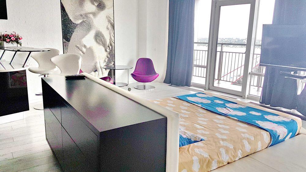 Лучшие видовые апартаменты в Мост Сити! Джакузи. Центр. 2к. 21 этаж-1