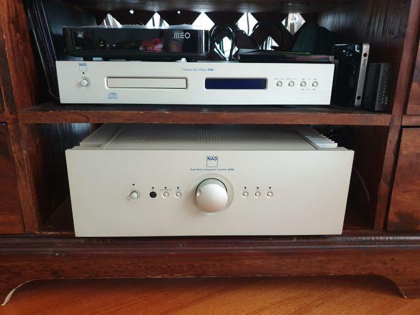 Amplificador e Leitor CD NAD (S300 e S500) + Colunas B&W Nautilus 804
