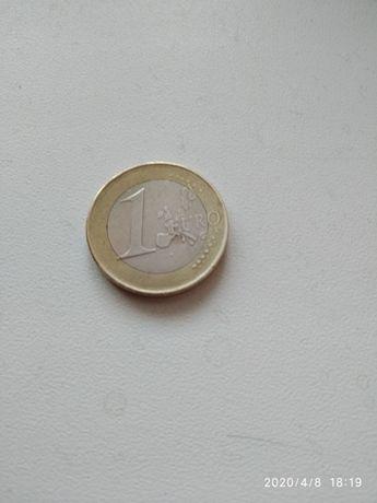 Монета 1 евро 2002 Испания