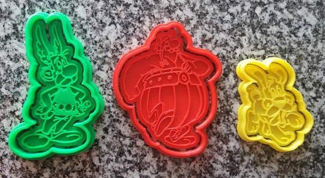 Cortador biscoitos asterix e obelix