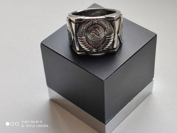 кольцо герб ссср,серебро 925