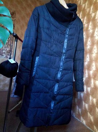 Пальто куртка пуховик towmy черного цвета размер L