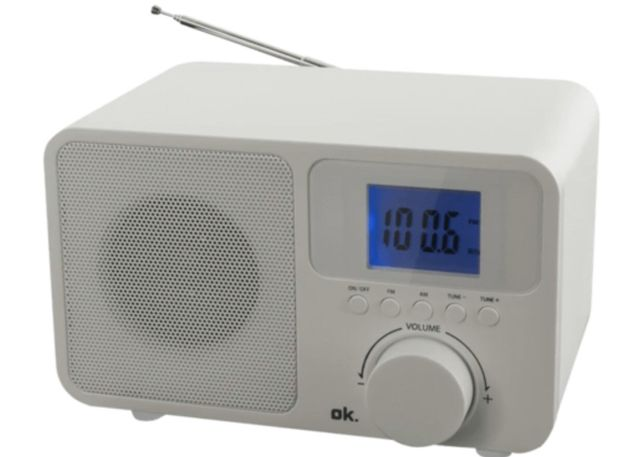 RÁDIO PORTÁTIL OK. OWR 230-W FM BRANCO