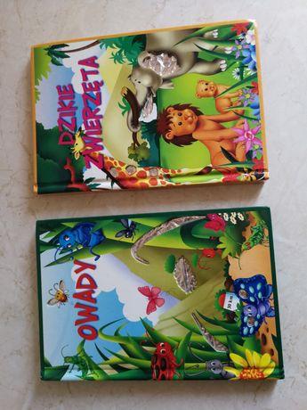 Książki,, Owady'', ,,Dzikie zwierzęta''