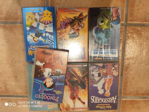 7 Cassetetes VHS Animação