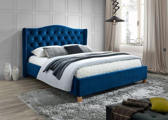 ASPEN 160 – łóżko tapicerowane RÓŻNE KOLORY - Dowozimy Bezpłatnie