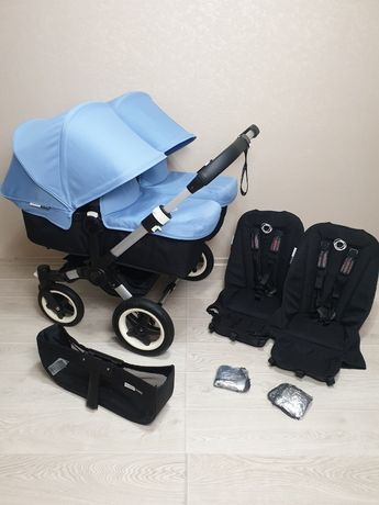 Bugaboo Donkey Twin Ice Blue Коляска Бугабу для двойни