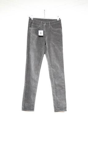 Blue Motion NOWE szare welurowe spodnie rurki 36 S