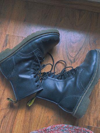 martensy botki glany czarne 40 25,5cm buty