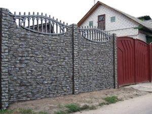 декоративный бетонный забор цена