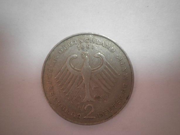 2 марки 1981 г. ФРГ