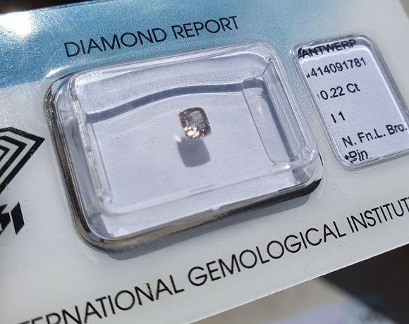 Diament Brylant 0,22 Carat CERTYFIKAT na pierścionek, Inwestycja