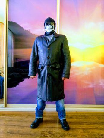 Італійське шкірне пальто якісне пошиття розмір ХL стан ідеальний
